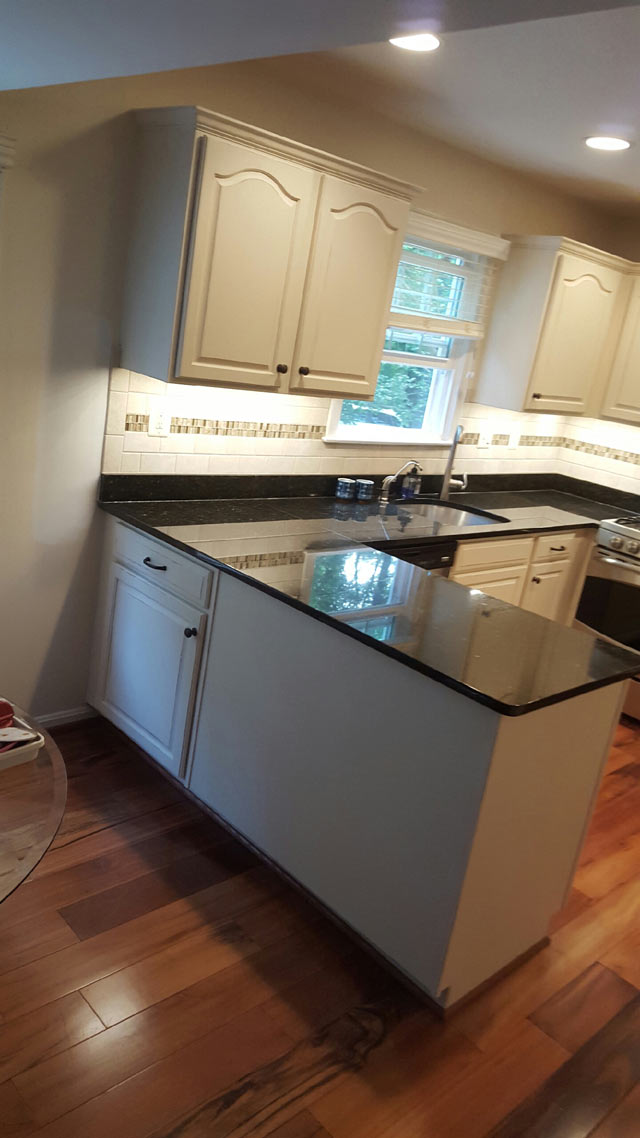 ... Maryland After Custom Painted Kitchen Cabinets in Frederick, Maryland