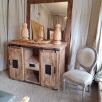 Teak Bar Credenza- Hand Painted Furniture in Frederick Maryland