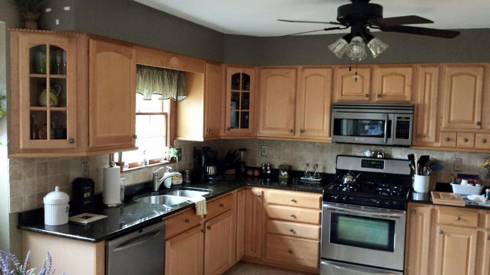 Kitchen Cabinets Before Custom Painting In Frederick Maryland ...