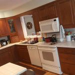 Before Hand Painted Kitchen Cabinets by Tuscany Designs