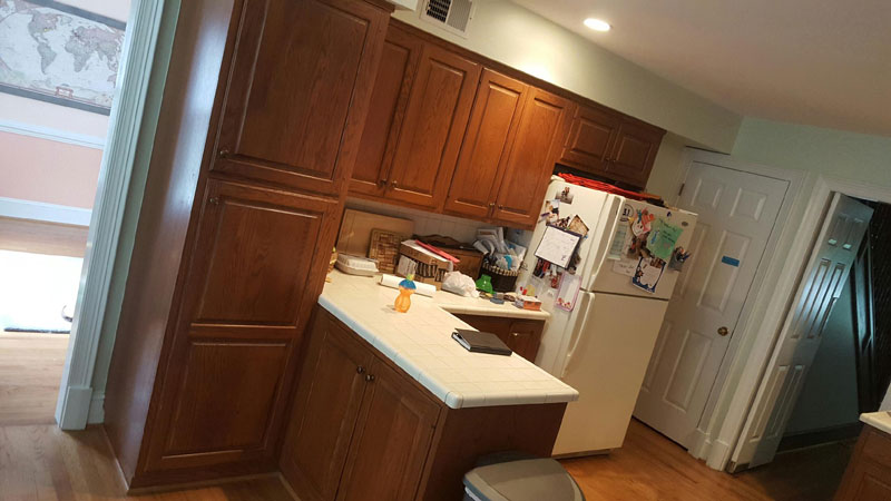 Before Cabinets Custom Kitchen Cabinet Painting In Frederick Maryland