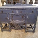 Dresser- Blue Antique Hand Painted Industrial Chic Furniture Frederick Maryland