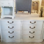 Bedside Table and Hand Painted White Shabby Chic Dresser- Frederick Maryland Furniture