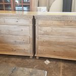 5 drawer teak restoration hardware style dressers 995